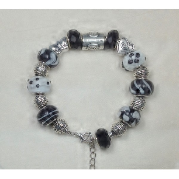 Black and White Pandora Style