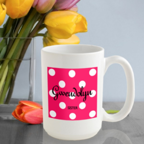 Tutti Frutti Polka Dot Coffee Mug