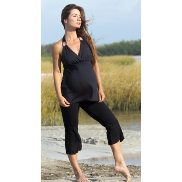 Capri pants, Black Nicole maternity