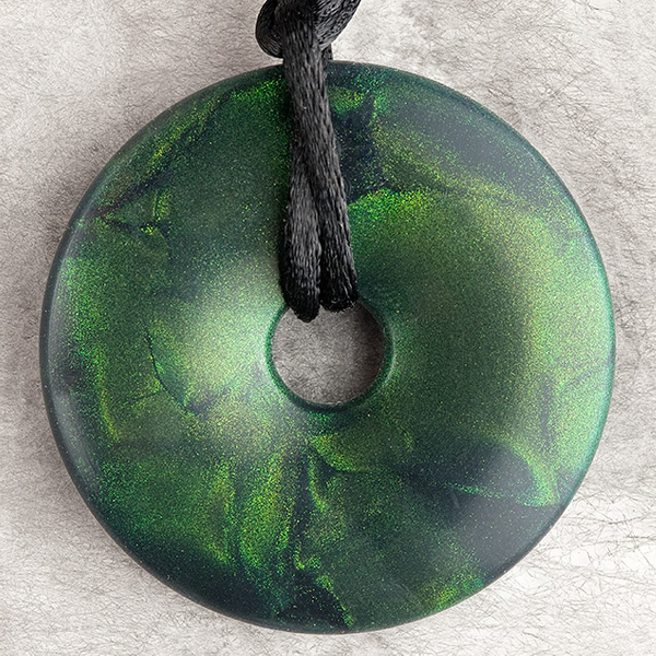 Emerald Green Shimmer Pendant